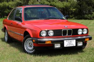 1984 BMW 325e Red ONLY 29K miles PRISTINE 2 Door Manual Trans
