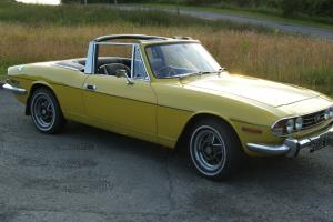 1971 TRIUMPH STAG MK1 MANUAL (TAX FREE) YELLOW  Photo