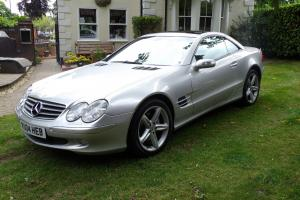 2004 MERCEDES SL500 AUTO SILVER - PANORAMIC ROOF