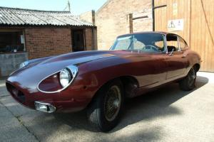 Jaguar E-Type 4.2 fhc 2 seater lhd fixed head coupe project left hand drive
