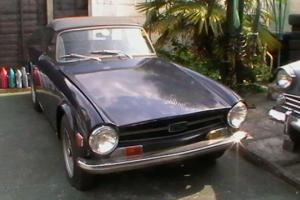 TRIUMPH TR6 BLUE FOR RESTORATION