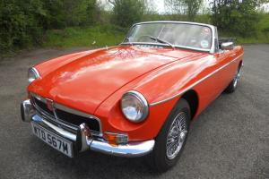 MG B ROADSTER BLAZE ORANGE 1974 FSH ONLY 16,000 MILES F/NEW IMMACULATE ORIGINAL