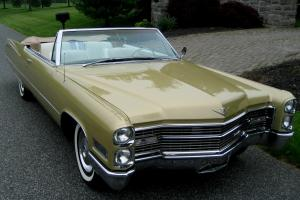 1966 Convertible,Stunning Gold,White Int.Tan Cloth Top,Full Power,AC,AutoDim,Exc