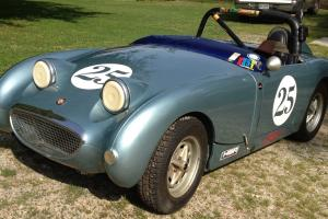 Running 1959 Bugeye Sprite Vintage Race Car or Return to Street, Excellent Body Photo
