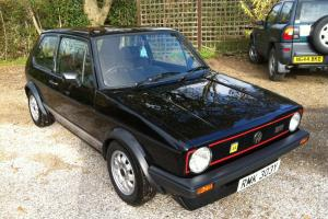 Volkswagen Golf GTi Mk1 1600 non-sunroof in black VW Mark 1 one not mk2 bug T4