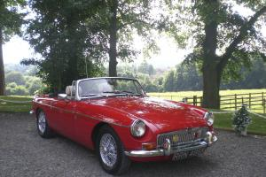MG B Roadster in Flame Red 1971 Ex California 3 wiper model with overdrive