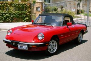 1986 Alfa Romeo Spider, one CA owner, a truly superb driving car, unrestored
