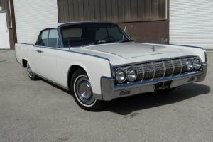 LINCOLN CONVERTIBLE SUICIDE DOORS LOW MILES WHITE ON RED