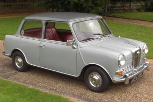 1968 WOLSELEY HORNET 998CC RED LEATHER INTERIOR.