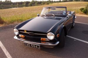 TRIUMPH TR6 BLUE 1970 UK CAR TAX EXEMPT EXCELLENT EXAMPLE  Photo