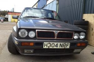 This lancia delta integrale 16 valve in grey is in need of some restoration