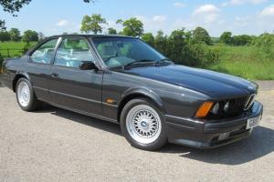1989 BMW 635 CSi Highline in Metallic Black with Lotus Leather - Stunning Car Photo