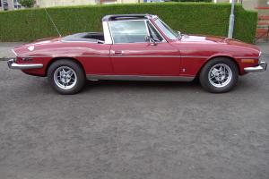 1976 TRIUMPH STAG V8 MANUAL / OVERDRIVE IN CARMINE RED / BLACK INTERIOR