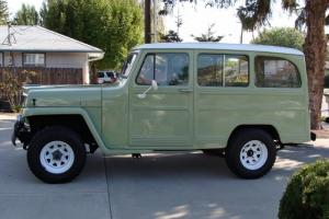 1961 Willys station wagon. Excellent restored condition. Corvette 350 with 5spd.