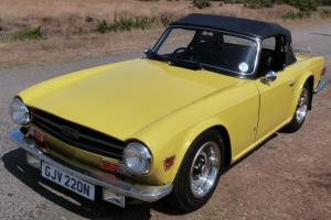 1975 TRIUMPH TR6 2500 PI, OVERDRIVE, MIMOSA YELLOW, 65000 miles from new