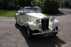 PRIVATE SALE OF A 1952 MG TD. FULLY RESTORED AND IN IMMACULATE CONDITION.  Photo