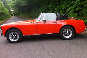 MG MIDGET RED 1972 ROUND WHEEL ARCH 1275CC STUNNING GENUINE LOW MILAGE