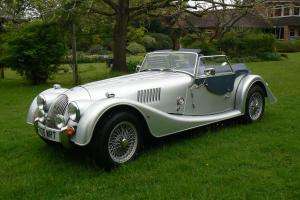 Morgan 4/4 Sports Car in Silver with Blue Leather Interior 2006. Only 13200miles