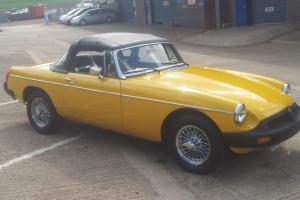 MGB roadster 1978 LEYLAND CARS YELLOW