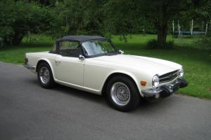 1975 Triumph TR6 Roadster, Old English White, outstanding restored car