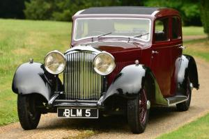 1934 Bentley Derby 3 1/2 litre Park Ward Saloon.  Photo