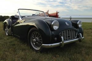 1956 Triumph TR3 BRG Excellent, No Rust!