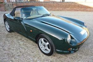 TVR CHIMAERA 1995 BRG WITH BLACK TARGA CREAM HIDE INTERIOR - HPI CLEAR STUNNING
