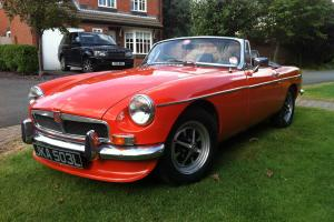 MGB Roadster Chrome bumper overdrive leather Blaze 11mth MOT