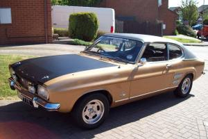 1970 FORD CAPRI 2000 GT XLR GOLD 20,922 miles from new genuine