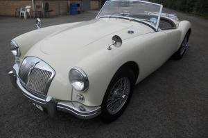 1957 MG A 1500, Old English White, superb condition, new MOT Sevice history.RHD