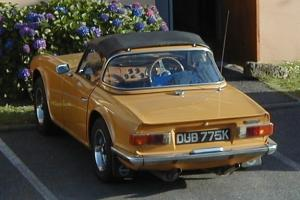 1971 TRIUMPH TR6 SAFFRON YELLOW. 150 bhp Injection with overdrive