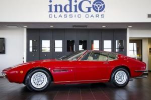 Restored 1971 Maserati Ghibli SS 4.9L V8 Coupe Red Tan Leather 5-Speed Manual