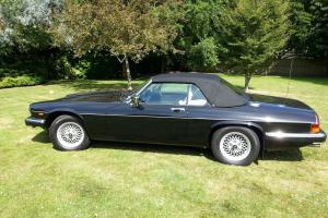 1990 JAGUAR XJ-S CONVERTIBLE AUTO BLACK