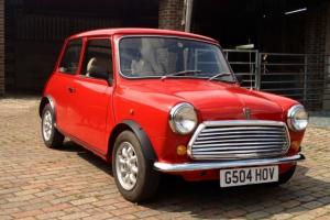 1990 ROVER MINI RACING FLAME CHECKMATE CLASSIC RED LOW MILES 2 OWNERS NO RUST  Photo