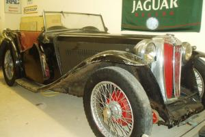 MG TA 1937 early narrow wing car, restoration project