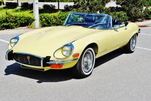 Spectacular just 25298 miles 1973 Jaguar E-Type Convertible v-12 a/c best around Photo