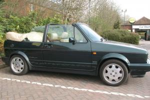 Golf Mk1 Rivage 1.8 GTi Cabriolet. Green with Cream Leather. Rare classic car.