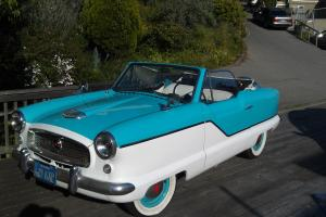 Nash Metropolitan Convertible 1959 Two-tone Caribbean Blue w Fitted Cover