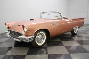 RARE THUNDERBIRD BRONZE, 292 V8, 3-SPEED MANUAL, MATCHING PORTHOLE HARDTOP, DUAL