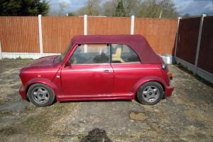 Rover Mini Cabrio Convertible sports/convertible Red eBay Motors #271255844724 Photo
