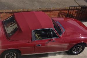 TRIUMPH STAG RED manual o/d tax exempt  Photo