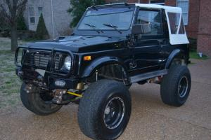 1988.5 Suzuki Samurai, lifted V6, Auto, Black, tops, rack, rear seat, runs good