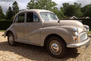 Rare Split Screen Morris Minor 4 dr Saloon 803cc