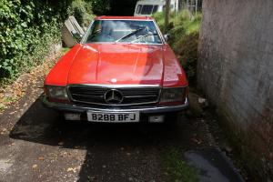 1985 MERCEDES BENZ 280 SL RED AUTOMATIC