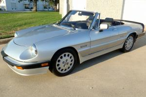 1987 silver Alfa, convertible, low miles with both tops. Fantastic condition.