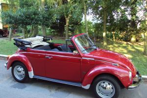 VW BEETLE KARMANN CABRIOLET VOLKSWAGEN 1303 S RED CONVERTIBLE