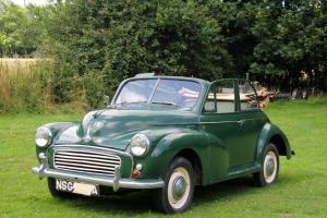 Genuine Morris Minor Factory Convertible Tourer Full MOT -no need for any more