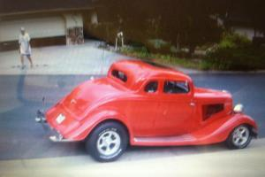 1934 5 window coupe body all steal 327/300 corvette moter 4 speed v.good cond.