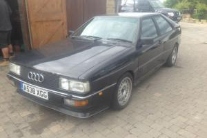 AUDI QUATTRO UR/WR TURBO RHD BLACK NON SUNROOF 1984