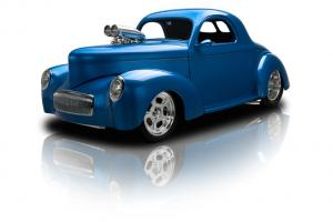 Frame Off Built Willys Coupe Supercharged Dual Quad 502